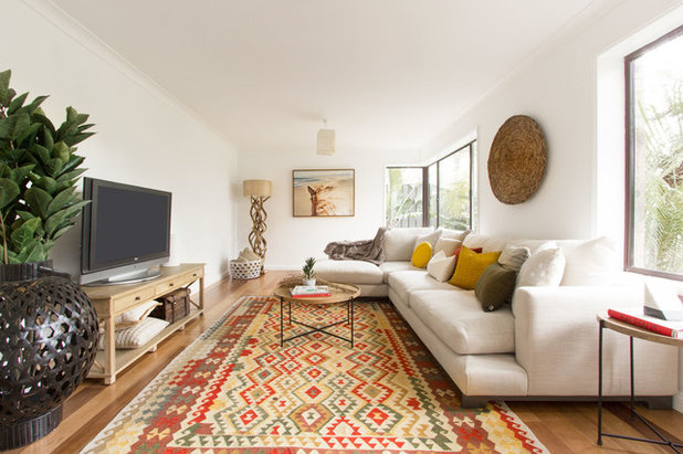 Houzz & How to Decorate a Boho Living Room
