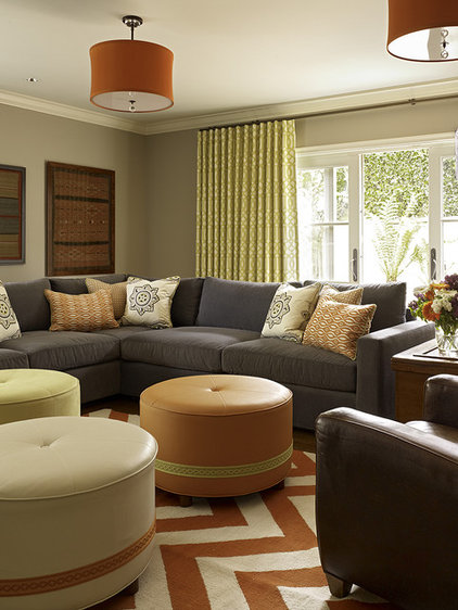 transitional family room by Artistic Designs for Living, Tineke Triggs