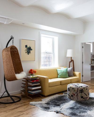 Contemporary Family Room Tribeca Penthouse