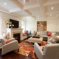 Contemporary Family Room by Meredith Heron Design