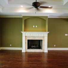 Craftsman Family Room by Tricon Builders Inc