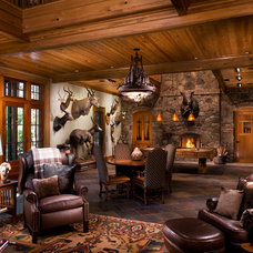 Traditional Family Room by Langford Construction Co., Inc