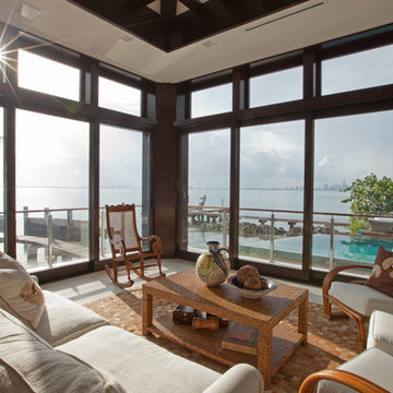 Tropical Family Room