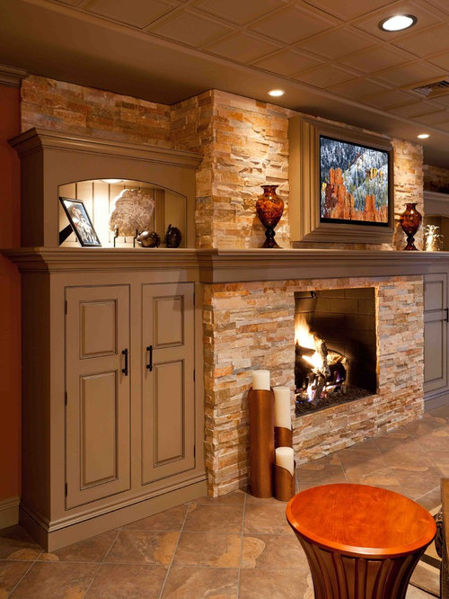 Cabinet Next To Fireplace Home Design Ideas, Pictures, Remodel and Decor