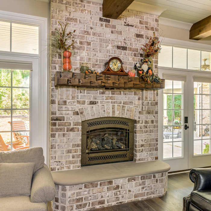 Example of a classic family room design in Charlotte