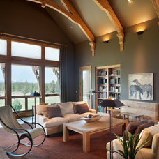 Rustic Family Room by Alan Mascord Design Associates Inc