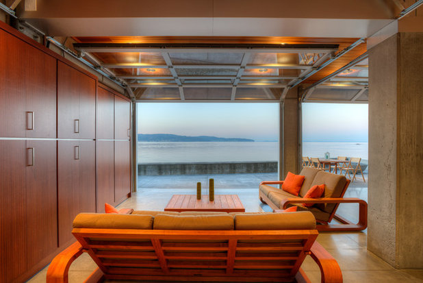 Contemporary Family Room by Dan Nelson, Designs Northwest Architects