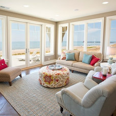 Beach Style Family Room by Visbeen Architects