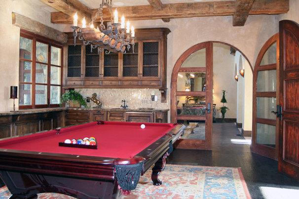Mediterranean Family Room by Francis Garcia Architect