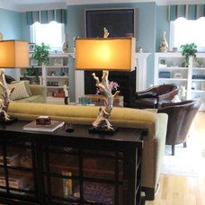 Eclectic Family Room by Lynn Madyson, ASID, IFDA, NKBA