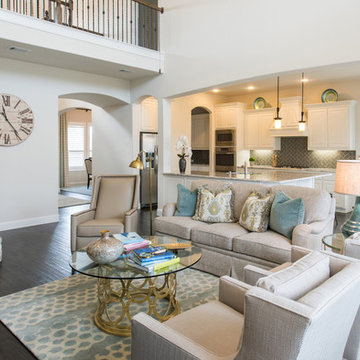 Turquoise Inspired Family Room