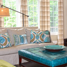 Eclectic Family Room by Simply Wesley, LLC