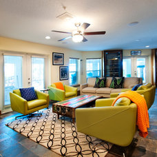 Eclectic Family Room by A.Clore Interiors