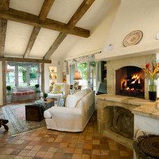 Mediterranean Family Room by Giffin & Crane General Contractors, Inc.
