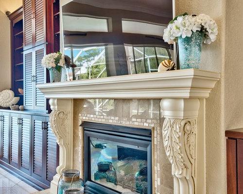 Shabby-Chic-Style Wohnzimmer mit gelben Wänden - Ideen & Design ...