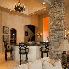 Mediterranean Family Room by Gander Builders
