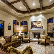 Mediterranean Family Room by Stotler Design Group
