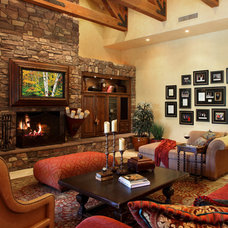 Mediterranean Family Room by Wendy Black Rodgers Interiors