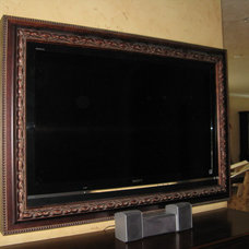 Traditional Family Room by Smart Touch Design - Flat Screen TV Frames