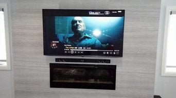 TV Installation - Ceramic Tile Wall