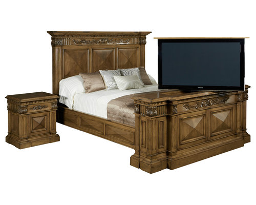 Belvedere TV lift cabinet furniture bed set by Cabinet Tronix