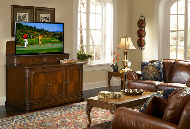 American Traditional Family Room by TVLiftCabinet, Inc