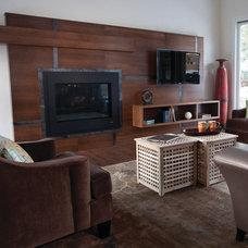 Contemporary Family Room by Anna Berglin Design