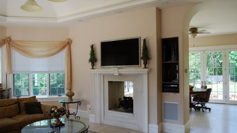 TV Mounted Over Open Fireplace