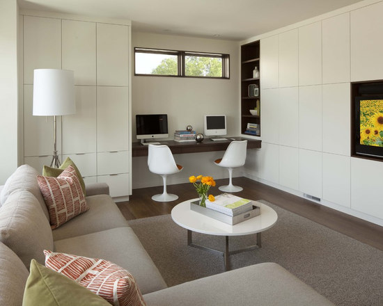 SaveEmailLiving Room Office Combination   Houzz. Living Room Office Combination. Home Design Ideas