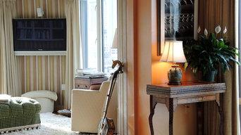 TV room color palette