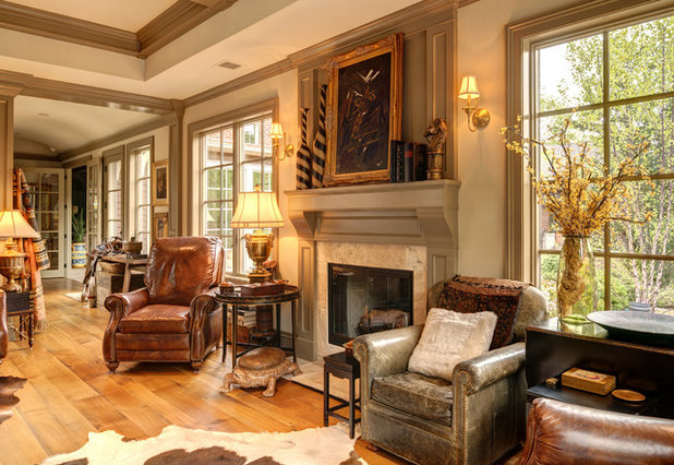 Traditional Family Room by Farinelli Construction, Inc.