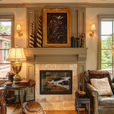 Traditional Family Room by Farinelli Construction Inc
