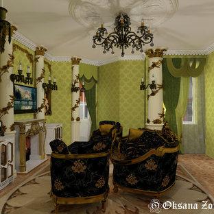 Exemple d'une salle de séjour victorienne.