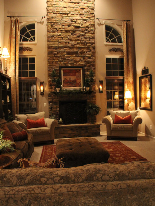 Family Living Room Design: Two Story Family Room Home Design Ideas, Pictures, Remodel