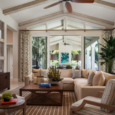 Transitional Family Room by Affiniti Architects