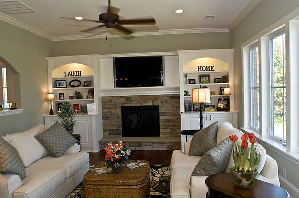 Traditional Family Room by Blue Sky Building Company