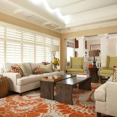 Contemporary Family Room by Jo Ann Hartley Interior Design