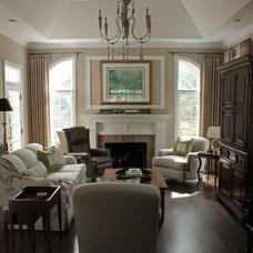 Traditional Family Room by Two Sisters