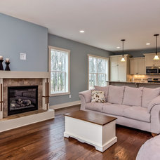 Traditional Family Room by Koetje Builders Inc
