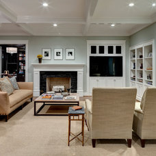 Traditional Family Room by Domiteaux + Baggett Architects, PLLC