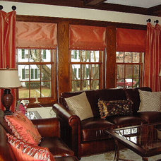 Traditional Family Room by At Your Service Custom Window Treatments