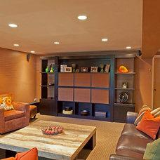 Modern Family Room by GoGo Design Group