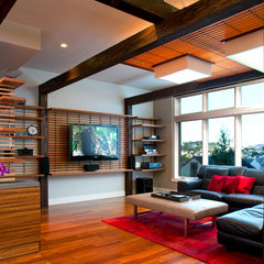 contemporary family room by Logue Studio Design Inc.