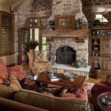 Traditional Family Room by Bruce Kading Interior Design