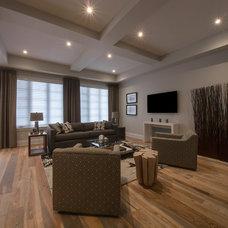Contemporary Family Room by Averton Homes