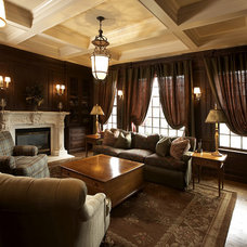 Traditional Family Room by Mari Kirwood Design Associates