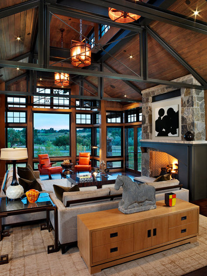 Contemporary Family Room by Comstock Design