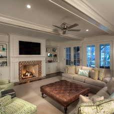 Traditional Family Room by Jim Schmid Photography