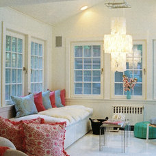 Eclectic Family Room by ZamoreInteriors