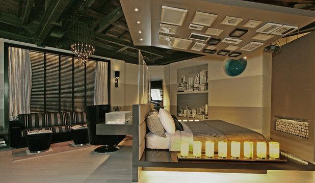 Contemporary Family Room by estudio gutman lehrer